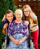 Посещая бабушка Стоковые Изображения