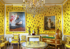 Посещая дворец Фонтенбло Стоковое фото RF