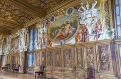 Посещая дворец Фонтенбло Стоковая Фотография RF