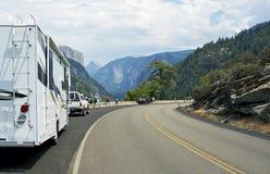 Посещая долина Yosemite Стоковые Фото