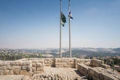 Посещая Ein Hemed и национальные парки Castel стоковое изображение