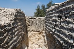 Посещая Ein Hemed и национальные парки Castel Стоковое Изображение RF