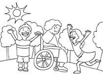 посещение бабушки Стоковые Фотографии RF