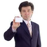 посещение выставки карточки бизнесмена Стоковые Фото