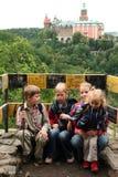 посещение замока Стоковая Фотография