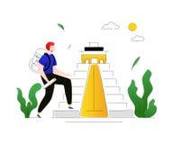 Посещение Мексика - красочная плоская иллюстрация стиля дизайна бесплатная иллюстрация