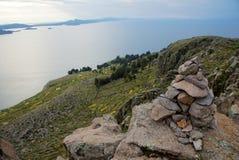 Посещение острова Titicaca стоковая фотография