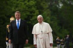 Посещение Папы Фрэнсис к Румынии стоковое изображение rf