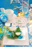 посещение таблицы держателя рождества карточки Стоковая Фотография RF