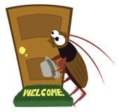 Посещение таракана бесплатная иллюстрация
