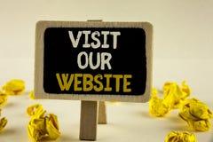 Посещение текста почерка наш вебсайт Связь интернет-страницы вахты приглашения смысла концепции к интернету блога домашней страни Стоковое Фото