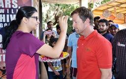 Посещение Jonty Родоса в Бхопале, Индии стоковые фотографии rf