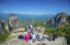 Посещение Meteora, Греция Стоковое Изображение