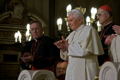 посещение xvi синагоги pope rome benedictus Стоковое Изображение RF