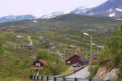 Поселение на плато Hardangervidda в Норвегии, Европе Стоковые Фото
