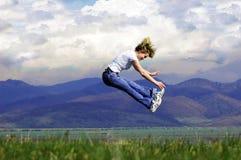 поскачите женщина Стоковая Фотография RF