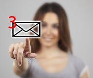послание икон отжимая женщину Стоковое Изображение RF