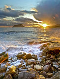 последнее солнце луча Стоковое Фото