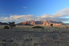 Последние лучи света на Sesriem, в пустыне Namib Намибии Стоковое Фото