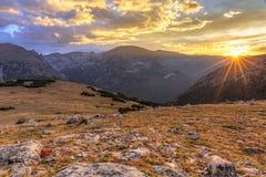 Последние лучи Солнця на скрещивании Юта стоковая фотография rf