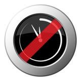 Последние мельчайшие часы - кнопка металла запрета круглая иллюстрация штока