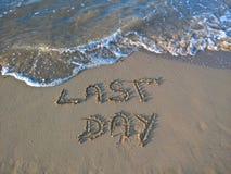 Последний день на пляже на каникулах рано утром Стоковое Изображение