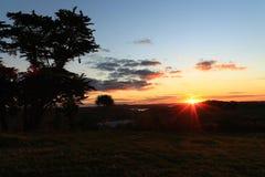 Последний мимолётный взгляд света Стоковое Фото