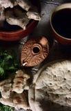 последний ужин стоковое изображение rf