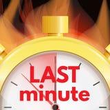 Последняя минута, концепция крайнего срока Логотип времени Faste иллюстрация штока