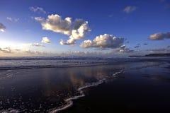 последняя пляжа после полудня красивейшая Стоковая Фотография