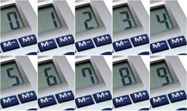 последовательные номера Стоковые Фотографии RF