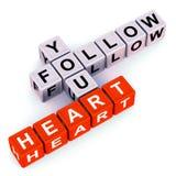 Последуйте за вашим сердцем иллюстрация вектора