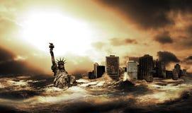 После большого цунами стоковое фото rf
