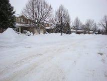 После большого шторма зимы в Лондоне Онтарио стоковые фотографии rf