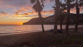 После обеда на пляже часа подковы золотого стоковое фото