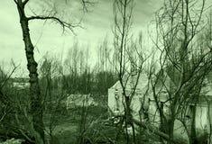 После огня в деревне Boco Стоковое Изображение