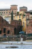 После полудня Лацио дождя Рима, Италия стоковые фотографии rf
