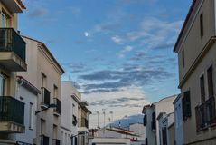 После полудня Alaior, Менорка, Балеарские острова, Испания стоковые изображения