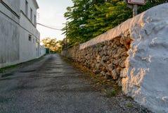 После полудня Alaior, Менорка, Балеарские острова, Испания стоковое фото rf