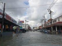 После шторма pabuk в Nakorn Sri Thammarat стоковые фотографии rf