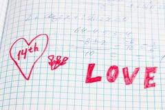 После этого что делают школьники думают о дне любовников Стоковое Фото