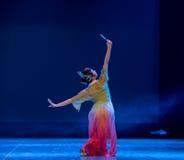 Посмотрите в танце зеркала-Rouged Губ-китайском классическом Стоковое Изображение RF