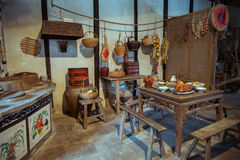 Посмотрите кухни в прошлом Китая Стоковое фото RF