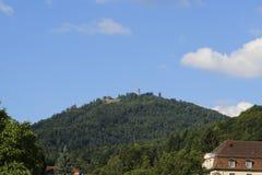 Посмотрите Меркурий горы в Баден-Бадене Стоковое Изображение RF