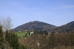 Посмотрите Меркурий горы, Merkur в Баден-Бадене Стоковые Фото