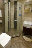 Посмотрите от современной роскошной ванной комнаты Стоковые Изображения