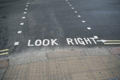 посмотрите правым Стоковые Изображения RF