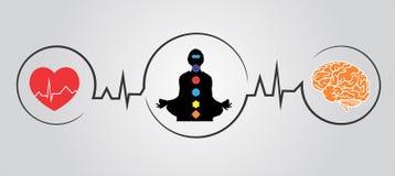 Пособия по болезни йоги иллюстрации вектора стоковые фотографии rf