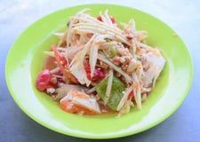 посоленный салат папапайи яичка Стоковые Фотографии RF