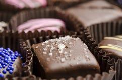 Посоленный трюфель шоколада карамельки стоковые изображения
